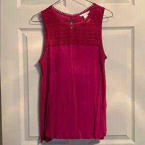 Pink HM sleeveless top